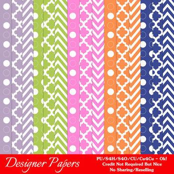 Petal Wings Patterns Digital Papers