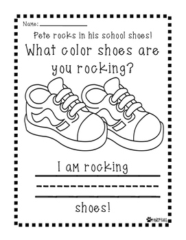Pete the Cat Rocking In My School Shoes Writing