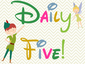 Peter Pan Daily Five Clip Chart & Mini Poster Pack