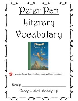 Peter Pan Literary Vocabulary Journal (Unit 1)