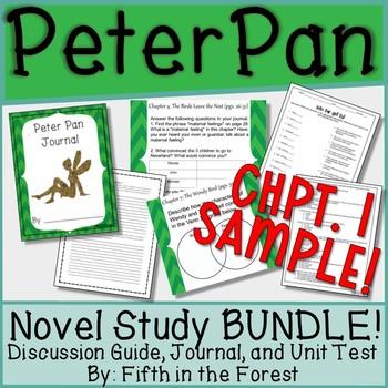 Peter Pan Novel Study (Chpt 1-2 Sample)