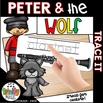 Peter and the Wolf Trace It Cards