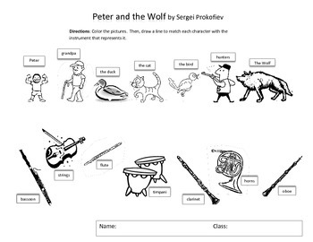 Peter and the Wolf Match 'n Color
