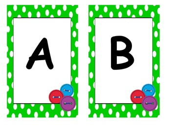That Cool Cat's  Buttons Alphabet Cards