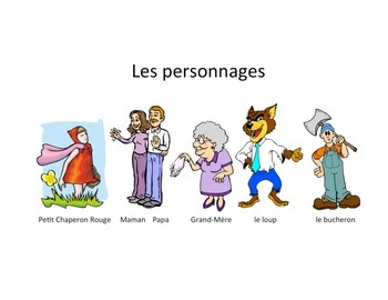 Petit Chaperon Rouge (Little Red Riding Hood) French Story