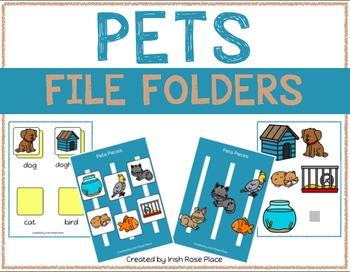 Pets Language File Folders