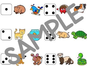 """Pets / Les animaux de compagnie - game """"Bump It"""""""
