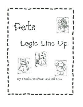 Pets Logic Line Up NO PREP!!! Common Core Aligned