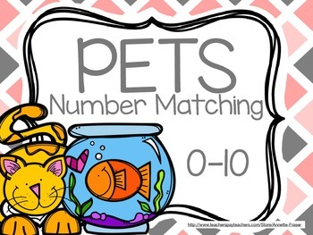 Pets Number Matching Cards