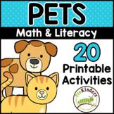 Pets Printable Math & Literacy Activities for Pre-K, Presc