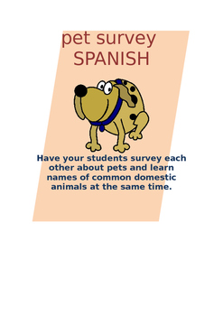 Pets Survey SPANISH