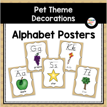 Pet-Themed Alphabet Posters