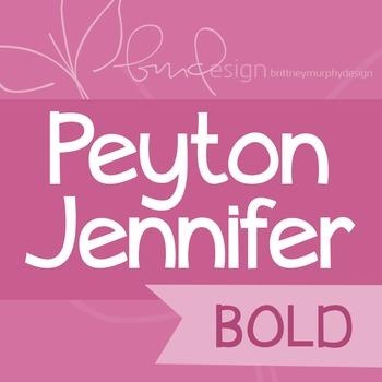 Peyton Jennifer Bold Font for Commercial Use