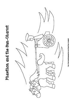 Phaethon Colouring Page - Roman Mythology