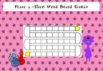 Phase 3 - Alien Word Board Games