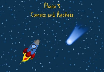 Phase 3 - Comets and Rockets (alien words)