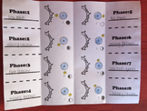 Phases of the Moon Foldable Worksheet for Interactive Notebook
