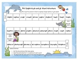 Phil the Dolphin ph and gh Phonics Word Game Literacy Stat