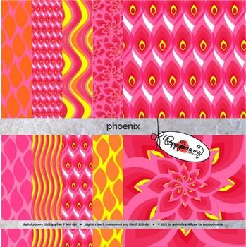 Phoenix Digital Paper by Poppydreamz