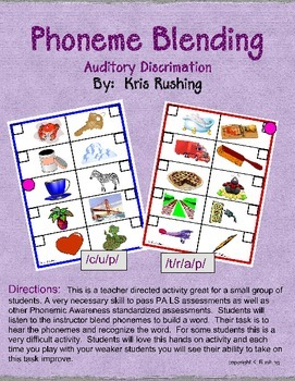 Phoneme Blending - Auditory Discrimination