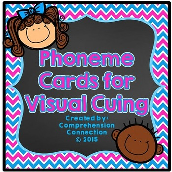 Phoneme Cards: Blue/Pink Neon Chevron and Chalkboard