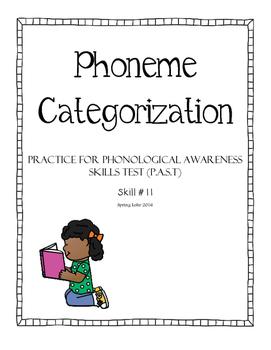 Phoneme Categorization - Phonological Awareness Skills Tes