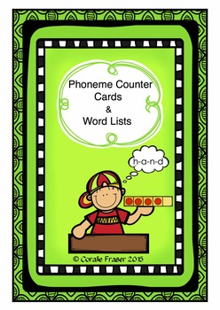 Phoneme Counter Cards and Word Lists