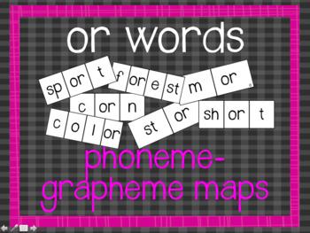 Phoneme-Grapheme Map: or words