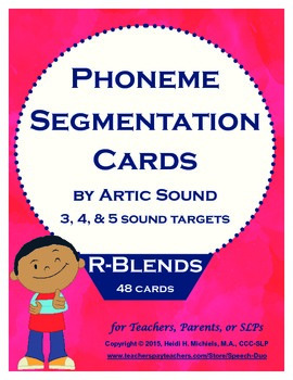 Phoneme Segmentation Activity: R-blends Artic Target