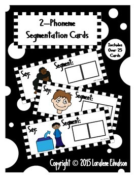Phoneme Segmentation Cards--2 Phonemes