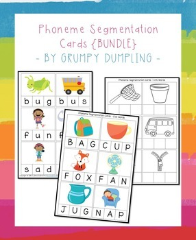 Phoneme Segmentation Cards {Bundle}
