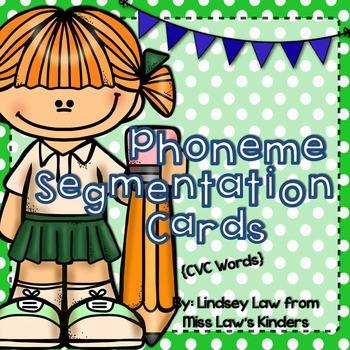 Phoneme Segmentation Cards {CVC Words}