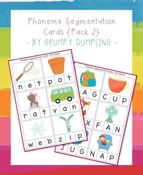 Phoneme Segmentation Cards {Pack 2}
