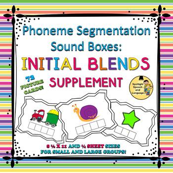 Phoneme Segmentation Sound Boxes - Initial Blends Supplement