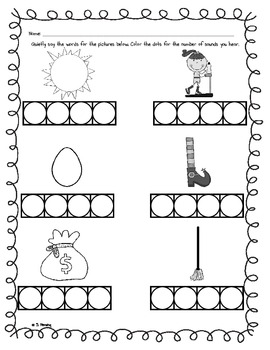 Printables Phoneme Worksheets phoneme segmentation worksheet 2 by slp creations teachers pay 2