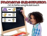 Phoneme Substitution-CVC Activities with Medial Vowel A