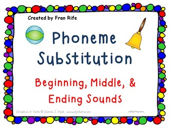 Phoneme Substitution: Change the Beginning, Middle, & Endi