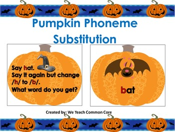 A Phoneme Substitution Pumpkin Activity Word Work Daily 5