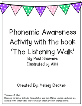 Phonemic Awareness Activity: Phoneme identification and ma