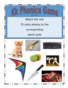 Phonemic Awareness Beginning Kk Sound Game