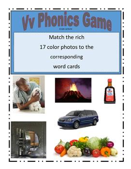 Phonemic Awareness Beginning Vv Sound Game