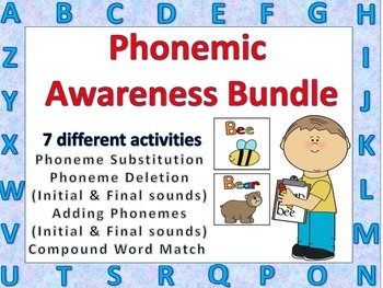 Phonemic Awareness Bundle Literacy Activities Whole or Sma