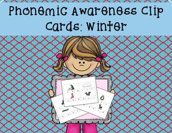 Beginning Sounds Clip Cards--Winter Themed