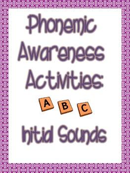 Phonemic Awareness Initial Sounds Packet