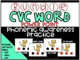Phonemic Awareness PowerPoint- (GROWING BUNDLE- CVC Words