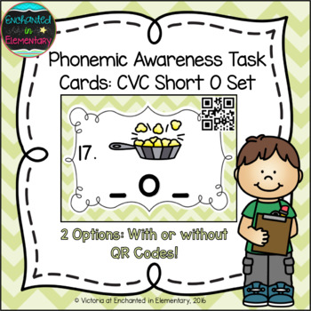 Phonemic Awareness Task Cards: CVC Short O Set