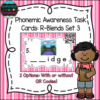 Phonemic Awareness Task Cards: R-blends Set 3