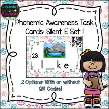 Phonemic Awareness Task Cards: Silent E Set 1