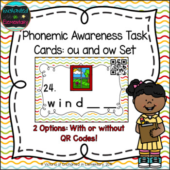 Phonemic Awareness Task Cards: ow and ou Set
