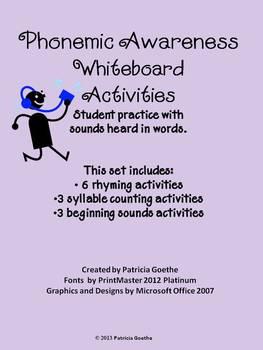 Phonemic Awareness Whiteboard Work